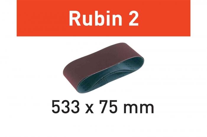 Festool Banda abraziva L533X 75-P60 RU2/10 Rubin 2 0