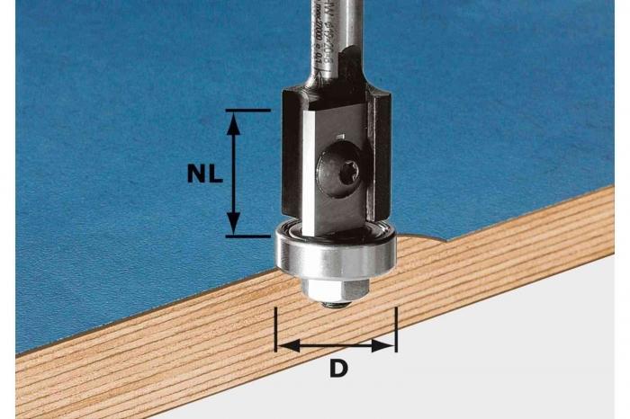 Festool Freză pentru frezarea coplanară, cu plăcuţe amovibile HW S8 D19/20WM Z2 0