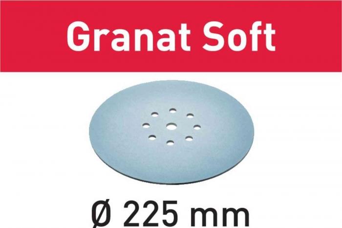 Festool Foaie abraziva STF D225 P180 GR S/25 Granat Soft 1