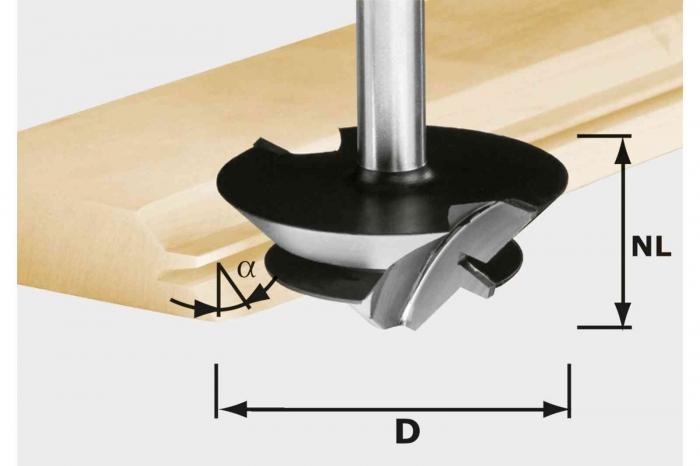 Festool Freză pentru îmbinări nut şi feder în unghi de 45 de grade HW D 64/27 S12 [0]