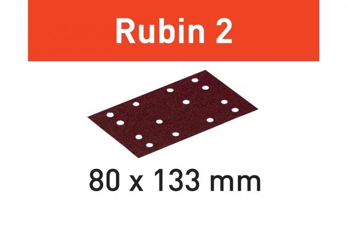 Festool Foaie abraziva STF 80X133 P80 RU2/50 Rubin 2 0