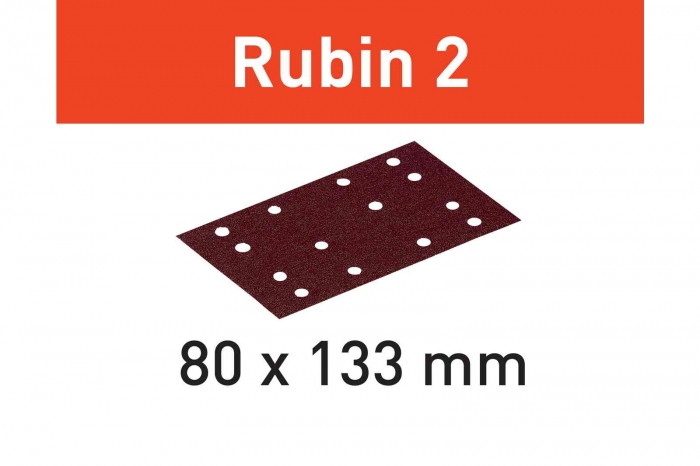 Festool Foaie abraziva STF 80X133 P80 RU2/50 Rubin 2 3