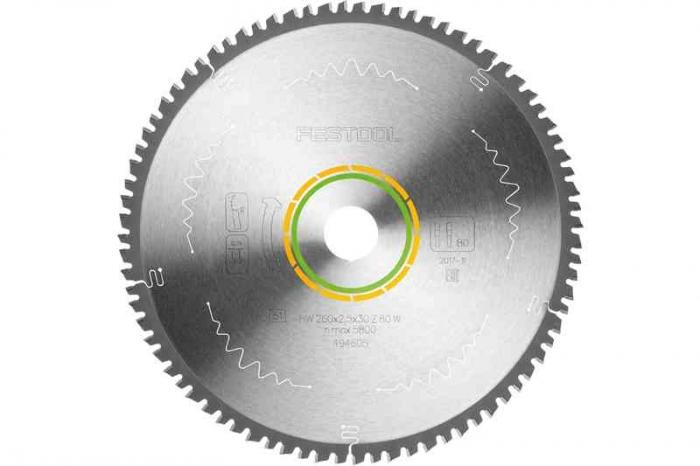 Festool Panza de ferastrau circular cu dinti fini 260x2,5x30 W80 1