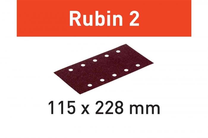 Festool Foaie abraziva STF 115X228 P180 RU2/50 Rubin 2 0