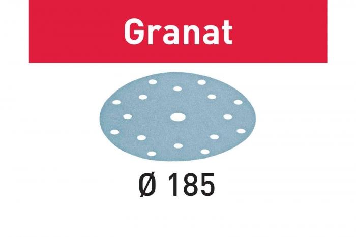 Festool Foaie abraziva STF D185/16 P180 GR/100 Granat 1