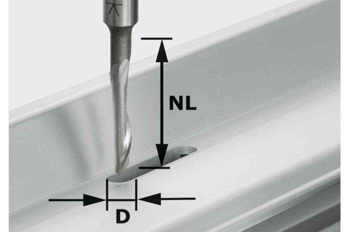 Festool Freză pentru aluminiu HS S8 D5/NL23 0