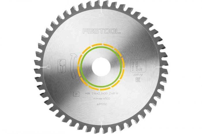Festool Panza de ferastrau circular cu dinti fini 216x2,3x30 W48 [1]