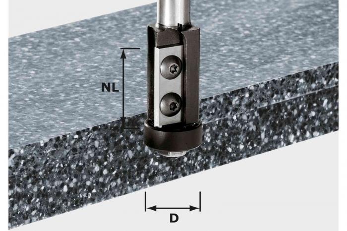 Festool Freză pentru frezarea coplanară, cu plăcuţe amovibile HW S12 D21/30WM [0]