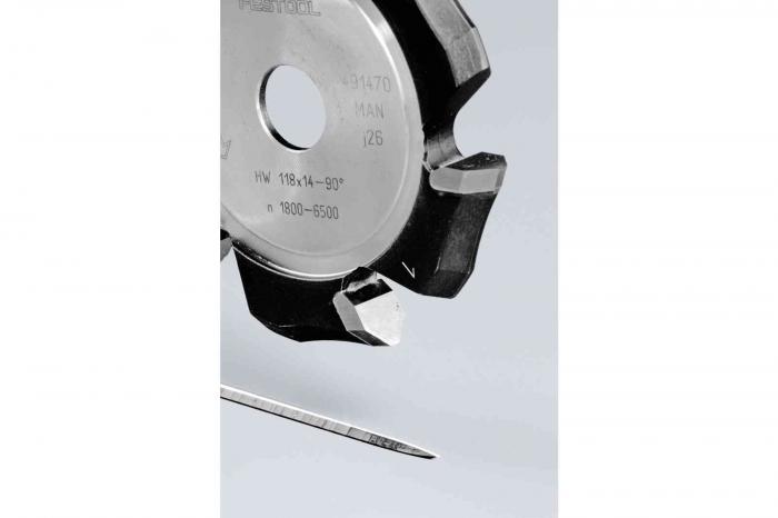 Festool Freză de canelat in forma de V HW 118x14-90°/Alu [1]