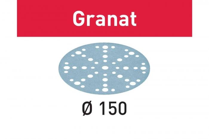 Festool Foaie abraziva STF D150/48 P180 GR/10 Granat 1