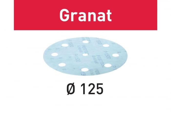 Festool Foaie abraziva STF D125/8 P1500 GR/50 Granat 3