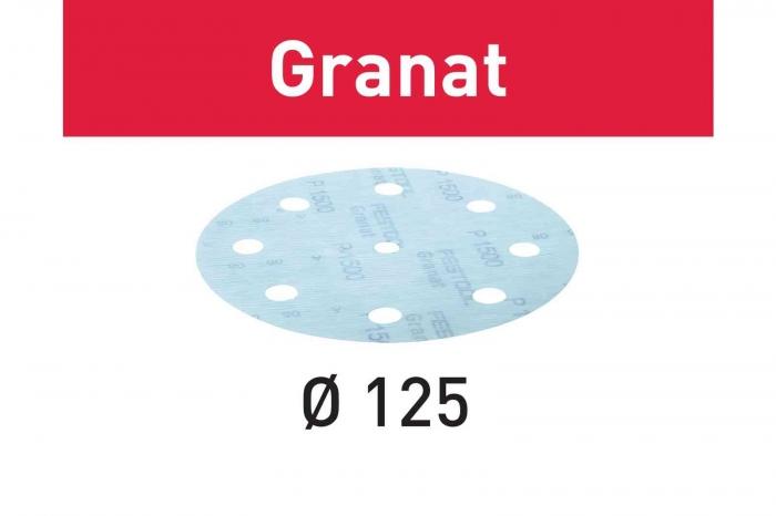 Festool Foaie abraziva STF D125/8 P1500 GR/50 Granat [2]