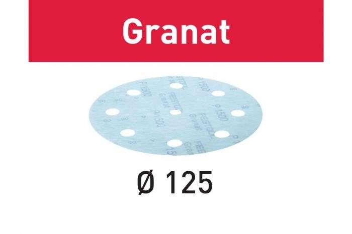 Festool Foaie abraziva STF D125/8 P1500 GR/50 Granat 1