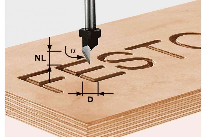 Festool Freza penita HW S8 D11/60° [0]