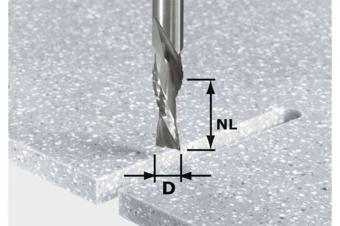 Festool Bit de freză pentru şlefuire brută şi finisare HW Spi D12/42 LD ss S12 0
