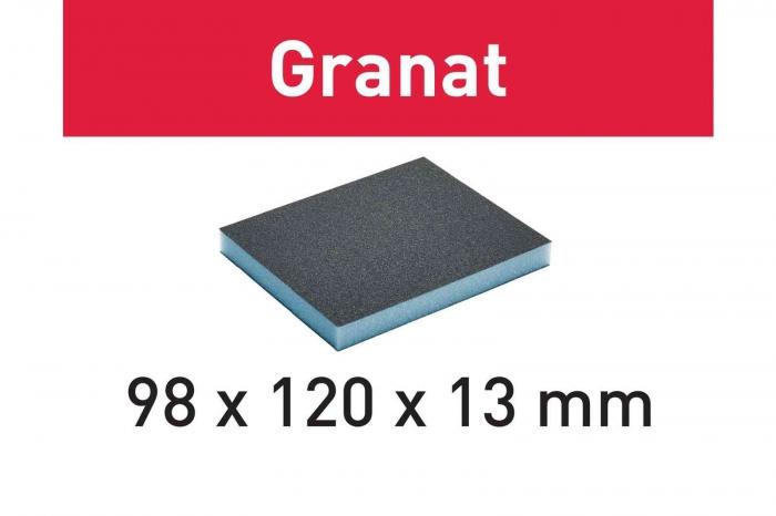 Festool Burete de şlefuit 98x120x13 800 GR/6 Granat [1]