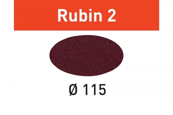 Festool Foaie abraziva STF D115 P80 RU2/50 Rubin 2 1