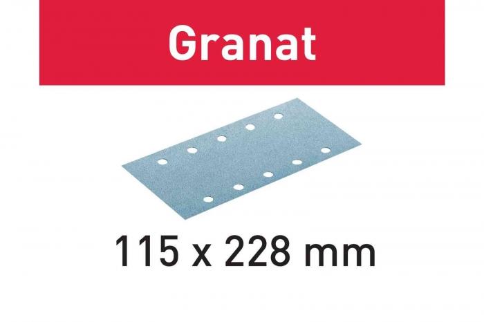 Festool Foaie abraziva STF 115X228 P80 GR/50 Granat [0]