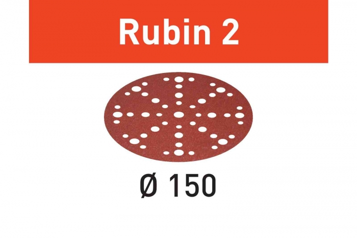 Festool Foaie abraziva STF D150/48 P80 RU2/50 Rubin 2 1