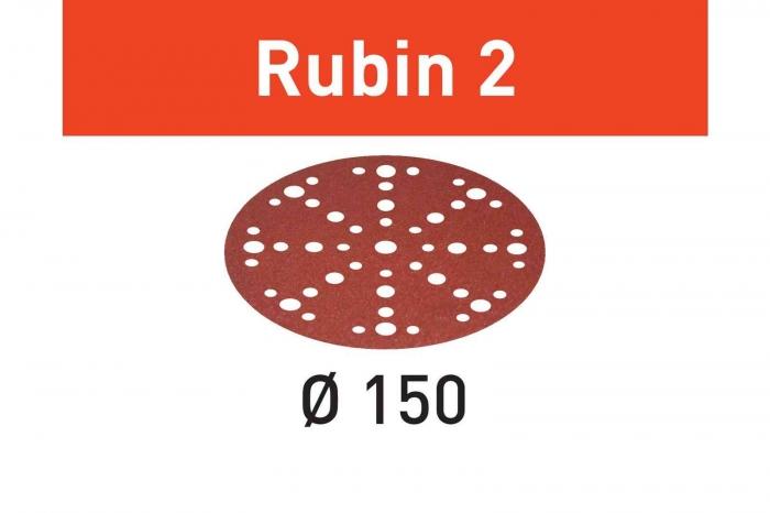 Festool Foaie abraziva STF D150/48 P150 RU2/10 Rubin 2 0