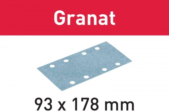 Festool Foaie abraziva STF 93X178 P60 GR/50 Granat 2