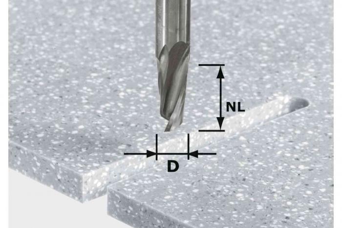 Festool Freză pentru canale elicoidale HW Spi D12/42 RD ss S12 [0]