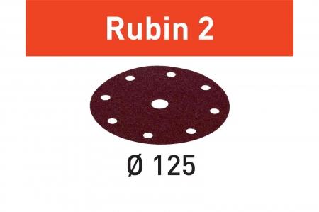 Festool Foaie abraziva STF D125/8 P120 RU2/10 Rubin 24