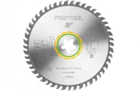 Festool Panza de ferastrau circular cu dinti fini 190x2,4 FF W481