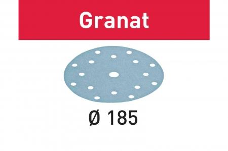 Festool Foaie abraziva STF D185/16 P80 GR/50 Granat1