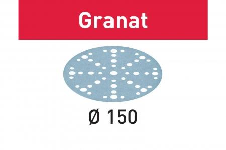 Festool Foaie abraziva STF D150/48 P80 GR/10 Granat1