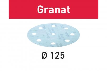 Festool Foaie abraziva STF D125/8 P1500 GR/50 Granat [1]