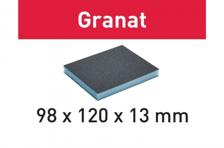 Festool Burete de şlefuit 98x120x13 120 GR/6 Granat [0]