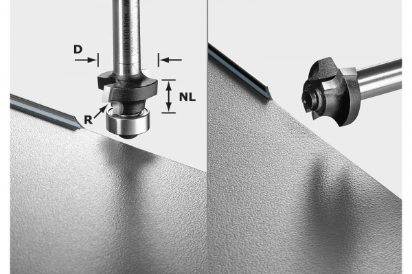 Festool Freza de rotunjit S8 HW R2 D20-KL OFK 0