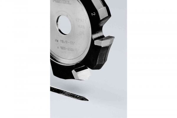 Festool Freză de canelat in forma de V HW 118x18-135°/Alu 1