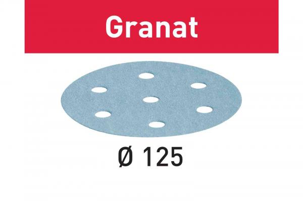 Festool Foaie abraziva STF D125/8 P60 GR/10 Granat [0]