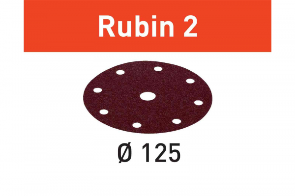 Festool Foaie abraziva STF D125/8 P80 RU2/10 Rubin 2 [0]