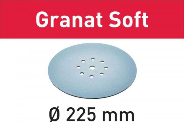 Festool Foaie abraziva STF D225 P80 GR S/25 Granat Soft 0