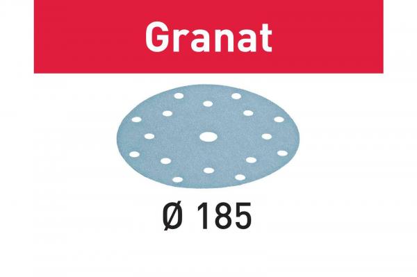 Festool Foaie abraziva STF D185/16 P180 GR/100 Granat [0]
