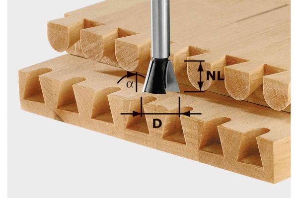 Festool Freze coadă de rândunică HW S8 D14,3/16/10° [0]