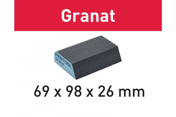 Festool Bloc de şlefuire 69x98x26 120 CO GR/6 Granat 3