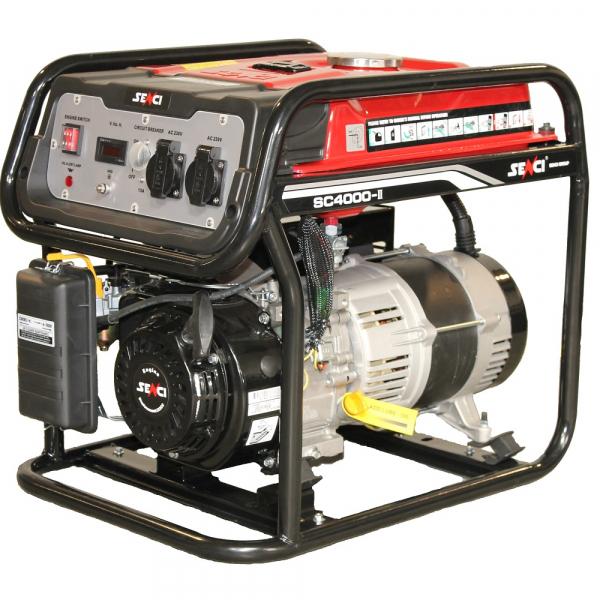 Generator curent monofazat SENCI SC-4000, Putere max. 3.8 kw, 230V, AVR, motor benzina 0