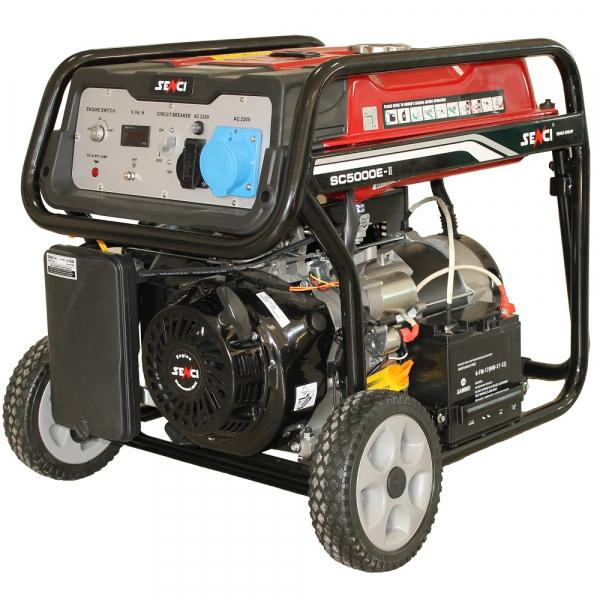 Generator de curent monofazat SC-5000E pornire electrica 0