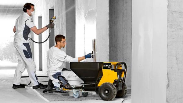 Pompa pentru gleturi si zugraveli WAGNER Plast Coat HP 30 debit material 10 kg/min 1