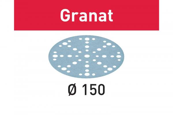 Festool Foaie abraziva STF D150/48 P180 GR/10 Granat 0