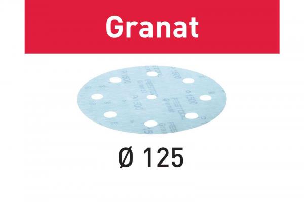 Festool Foaie abraziva STF D125/8 P1000 GR/50 Granat [0]