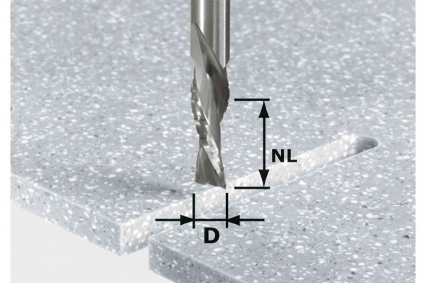 Festool Bit de freză pentru şlefuire brută şi finisare HW Spi D12/42 LD ss S12 1