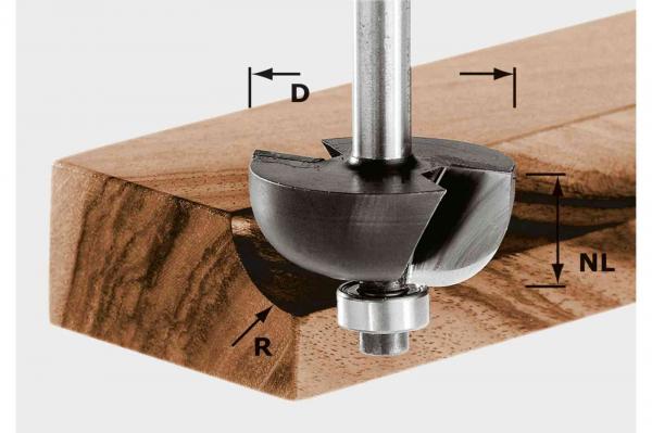 Festool Freză tip cupă HW S8 D25,5/R6,35 KL [0]