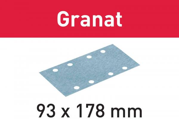 Festool Foaie abraziva STF 93X178 P60 GR/50 Granat 0