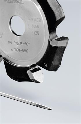 Festool Freză de canelat in forma de V HW 118x14-90°/Alu 0
