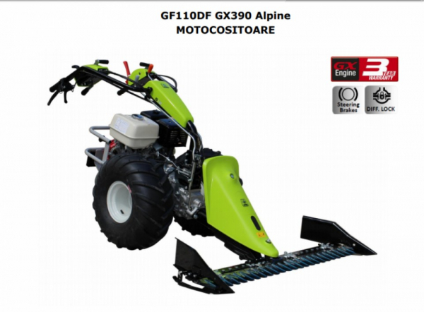 Motocositoare Grillo GF110DF Alpine motor HONDA GX390 13.0 HP 127 cm SP 2